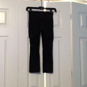 Lululemon black hw mesh crop leggings sz 4 56608